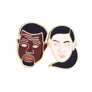 Kimye Badge Pins Lapel Kim Kardashian Kanye West